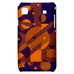 Blue and orange abstract design Samsung Galaxy S i9000 Hardshell Case