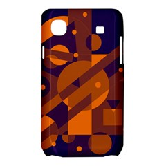 Blue and orange abstract design Samsung Galaxy SL i9003 Hardshell Case