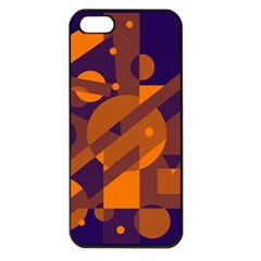 Blue and orange abstract design Apple iPhone 5 Seamless Case (Black)