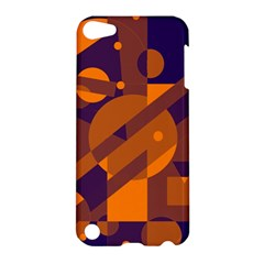 Blue and orange abstract design Apple iPod Touch 5 Hardshell Case