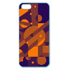 Blue and orange abstract design Apple Seamless iPhone 5 Case (Color)