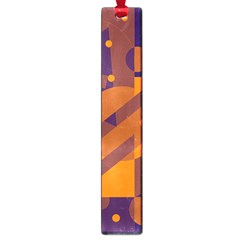 Blue and orange abstract design Large Book Marks