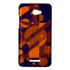 Blue and orange abstract design HTC Butterfly X920E Hardshell Case