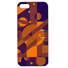 Blue and orange abstract design Apple iPhone 5 Hardshell Case with Stand
