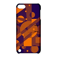 Blue and orange abstract design Apple iPod Touch 5 Hardshell Case with Stand