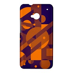 Blue and orange abstract design HTC One M7 Hardshell Case