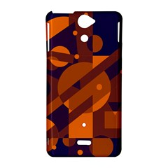 Blue and orange abstract design Sony Xperia V