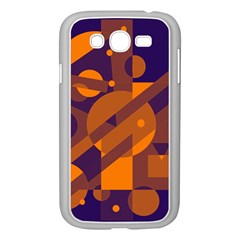 Blue and orange abstract design Samsung Galaxy Grand DUOS I9082 Case (White)