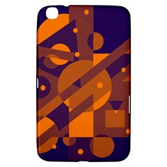 Blue and orange abstract design Samsung Galaxy Tab 3 (8 ) T3100 Hardshell Case
