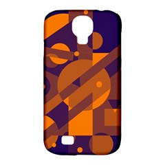 Blue and orange abstract design Samsung Galaxy S4 Classic Hardshell Case (PC+Silicone)