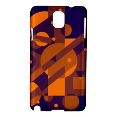 Blue and orange abstract design Samsung Galaxy Note 3 N9005 Hardshell Case