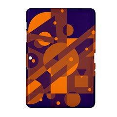Blue and orange abstract design Samsung Galaxy Tab 2 (10.1 ) P5100 Hardshell Case