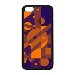 Blue and orange abstract design Apple iPhone 5C Seamless Case (Black)