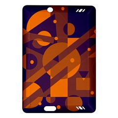 Blue and orange abstract design Amazon Kindle Fire HD (2013) Hardshell Case