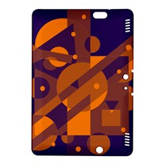 Blue and orange abstract design Kindle Fire HDX 8.9  Hardshell Case