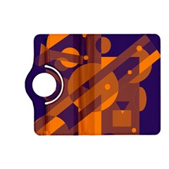 Blue and orange abstract design Kindle Fire HD (2013) Flip 360 Case