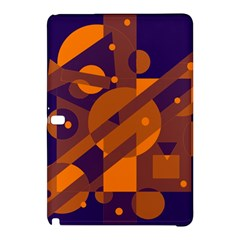Blue and orange abstract design Samsung Galaxy Tab Pro 10.1 Hardshell Case