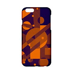 Blue and orange abstract design Apple iPhone 6/6S Hardshell Case
