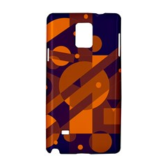 Blue and orange abstract design Samsung Galaxy Note 4 Hardshell Case