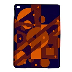 Blue and orange abstract design iPad Air 2 Hardshell Cases