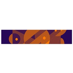 Blue and orange abstract design Flano Scarf (Small)