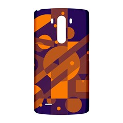 Blue and orange abstract design LG G3 Back Case