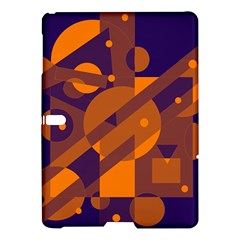 Blue and orange abstract design Samsung Galaxy Tab S (10.5 ) Hardshell Case