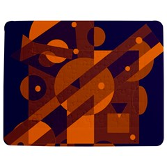 Blue and orange abstract design Jigsaw Puzzle Photo Stand (Rectangular)