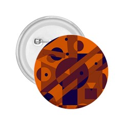 Orange and blue abstract design 2.25  Buttons