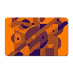Orange and blue abstract design Magnet (Rectangular)