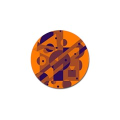 Orange and blue abstract design Golf Ball Marker (10 pack)