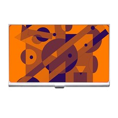Orange and blue abstract design Business Card Holders