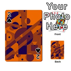 Orange and blue abstract design Playing Cards 54 Designs