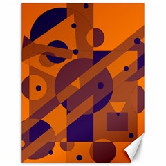 Orange and blue abstract design Canvas 12  x 16