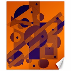 Orange and blue abstract design Canvas 20  x 24
