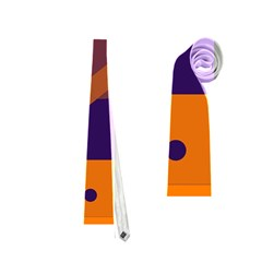 Orange and blue abstract design Neckties (Two Side)