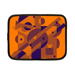 Orange and blue abstract design Netbook Case (Small)