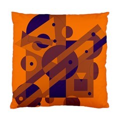 Orange and blue abstract design Standard Cushion Case (One Side)