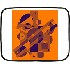 Orange and blue abstract design Fleece Blanket (Mini)