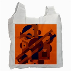 Orange and blue abstract design Recycle Bag (One Side)