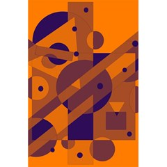 Orange and blue abstract design 5.5  x 8.5  Notebooks