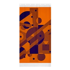 Orange and blue abstract design Shower Curtain 36  x 72  (Stall)
