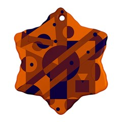 Orange and blue abstract design Ornament (Snowflake)