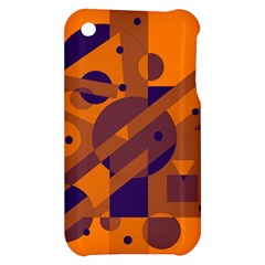 Orange and blue abstract design Apple iPhone 3G/3GS Hardshell Case