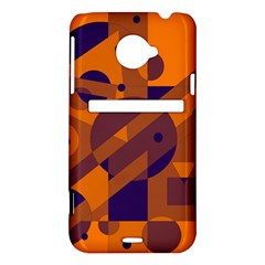Orange and blue abstract design HTC Evo 4G LTE Hardshell Case