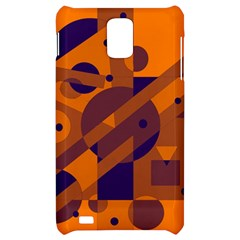 Orange and blue abstract design Samsung Infuse 4G Hardshell Case