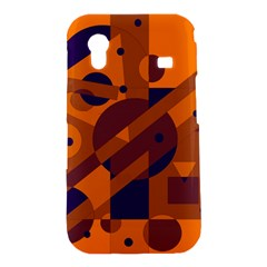 Orange and blue abstract design Samsung Galaxy Ace S5830 Hardshell Case