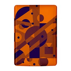 Orange and blue abstract design Kindle 4
