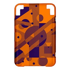 Orange and blue abstract design Kindle 3 Keyboard 3G