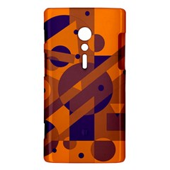 Orange and blue abstract design Sony Xperia ion